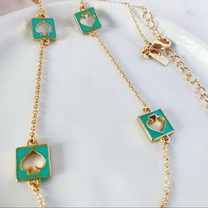 Kate spade blue logo long necklace